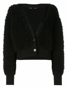 Proenza Schouler Alpaca Cropped Cardigan - Black