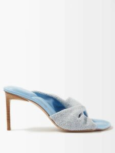 Three Graces London - Arabella Striped Linen-blend Dress - Womens - Pink