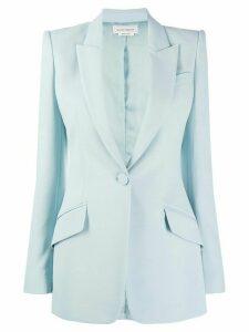 Alexander McQueen single-button blazer - Blue