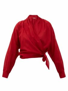 Mes Demoiselles - Claudia Cotton Wrap Top - Womens - Red
