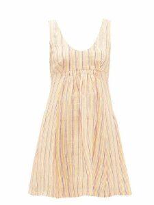 Three Graces London - Emilia Striped Linen Mini Dress - Womens - Multi