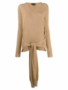 Jejia sleeve detail pullover - NEUTRALS
