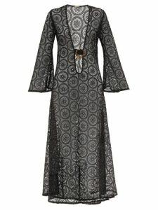Dodo Bar Or - Jane Crocheted-cotton Maxi Dress - Womens - Black