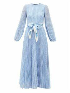 Zimmermann - Super Eight Polka-dot Print Crepe Midi Dress - Womens - Blue Print