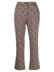 White Sand cropped leopard print trousers - PINK
