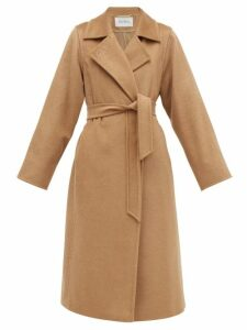 Galvan - Tiered-sleeve Crepe-back Satin Top - Womens - Green
