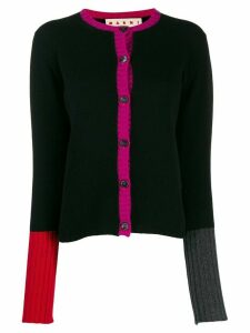 Marni cashmere trimmed cardigan - Black