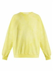 Audrey Louise Reynolds - Round-neck Cotton Sweatshirt - Womens - Yellow