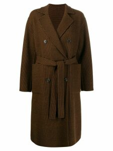 Mackintosh FORTROSE Brown Check Wool Reversible Trench Coat