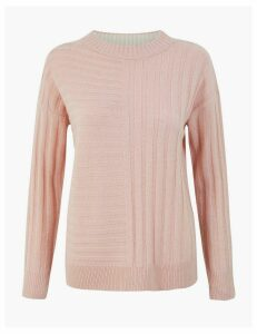 M&S Collection Mixed Stitch Jumper