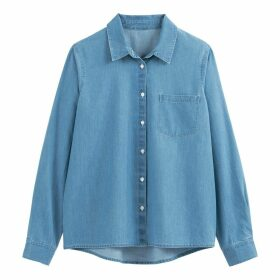 Cotton Long-Sleeved Denim Shirt