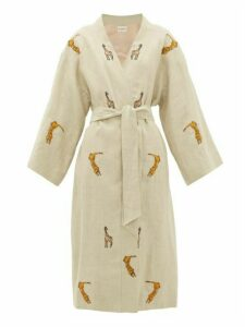 Etro - Malva Safari-embroidered Linen Coat - Womens - Ivory Multi