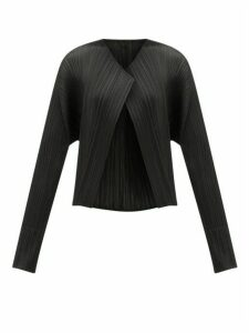 Pleats Please Issey Miyake - Cropped Pleated Technical Jacket - Womens - Black