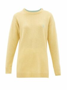 Loewe - Anagram-embroidered Wool Sweater - Womens - Cream