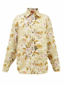 Colville - Floral-print Cotton-twill Shirt - Womens - Multi