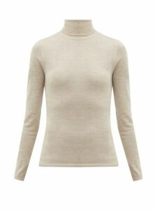 Gabriela Hearst - Costa Cashmere-blend Roll-neck Sweater - Womens - Beige