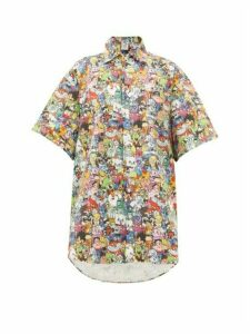 Vetements - Monster-print Cotton Shirt - Womens - Multi