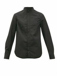 Wardrobe. nyc - Release 05 Band-collar Cotton-poplin Shirt - Womens - Black