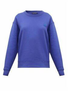 Acne Studios - Fairview Face Cotton Sweatshirt - Womens - Blue