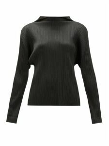 Pleats Please Issey Miyake - Monthly Colours Tech-pleated Top - Womens - Black