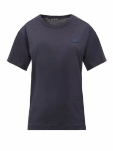 Acne Studios - Nash Face Cotton-jersey T-shirt - Womens - Navy