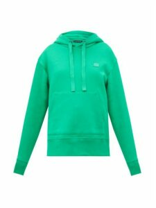 Acne Studios - Ferris Cotton Fleece-back Hooded Sweatshirt - Womens - Green
