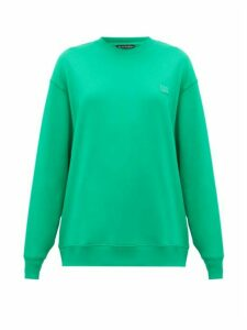 Acne Studios - Forbra Face Cotton Sweatshirt - Womens - Green