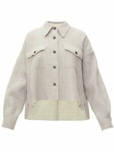 Isabel Marant - Dennao Point-collar Wool Shirt - Womens - Grey