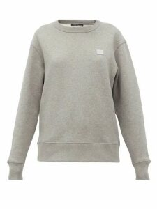 Acne Studios - Fairview Face Cotton Sweatshirt - Womens - Light Grey