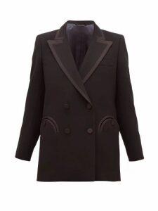 Blazé Milano - Resolute Double-breasted Wool-crepe Blazer - Womens - Black