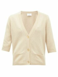 Allude - Button-front Cashmere Cardigan - Womens - Beige