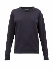 Acne Studios - Forbra Oversized Face-patch Cotton Sweatshirt - Womens - Navy