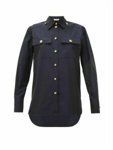 Givenchy - Buttoned Cotton-poplin Shirt - Womens - Navy