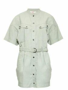 Isabel Marant Étoile - Zolina Belted Cotton Shirtdress - Womens - Khaki