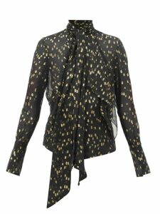 Petar Petrov - Calida Polka-dot Silk-blend Blouse - Womens - Black Multi