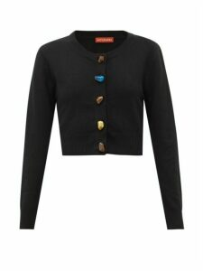 Altuzarra - Wellmore Cropped Wool And Cashmere Cardigan - Womens - Black