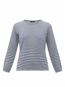 A.P.C. - Sybille Striped Jersey Long-sleeve T-shirt - Womens - Navy Multi