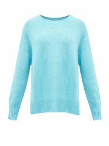 Allude - Round-neck Cashmere Sweater - Womens - Blue