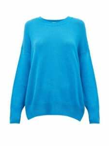 Allude - Draped Cashmere Sweater - Womens - Dark Blue