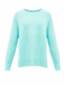 Allude - Draped Cashmere Sweater - Womens - Light Blue