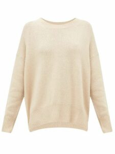Allude - Round-neck Cashmere Sweater - Womens - Beige
