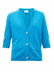 Allude - Button-front Cashmere Cardigan - Womens - Dark Blue