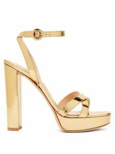Gianvito Rossi - Poppy 100 Metallic-leather Platform Sandals - Womens - Gold