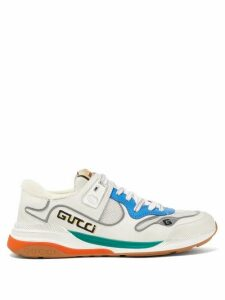 Gucci - Ultrapace Leather And Mesh Trainers - Womens - White Multi
