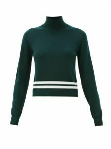 Lndr - Arctic High-neck Logo-jacquard Sweater - Womens - Green