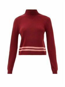 Lndr - Arctic Mock-neck Merino Wool Sweater - Womens - Burgundy