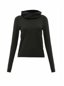 Paco Rabanne - Logo-tape Hooded Sweatshirt - Womens - Black