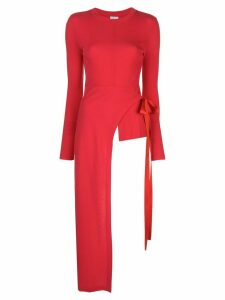 Rosetta Getty long sleeve apron wrap T-shirt - Red