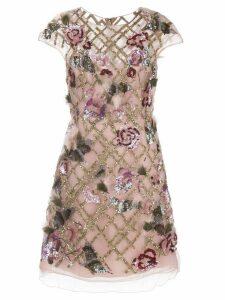 Marchesa sequin cocktail dress - PINK