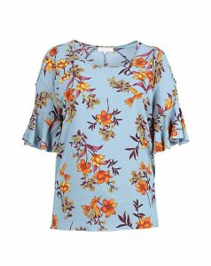 Lovedrobe GB Floral Cold Shoulder Top